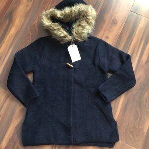 Zara fur hooded outerwear 8 kid